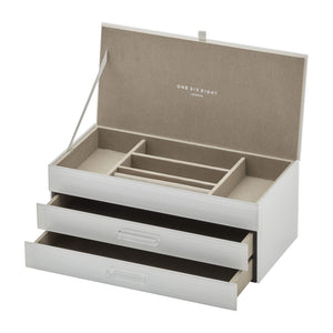 Gabriella White Jewellery Box Lge