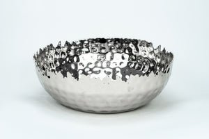 Silver Jagged Edged Bowl