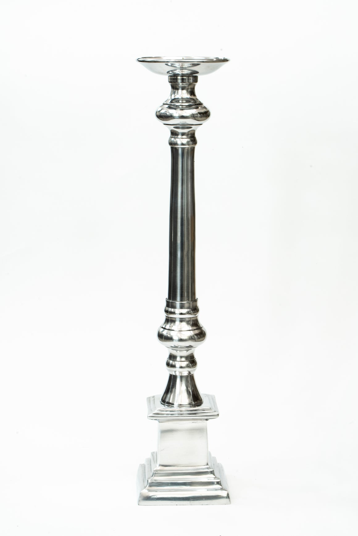 Polished Aluminium Candle Stand
