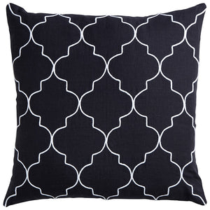 Black Mykonos Linen Cushion