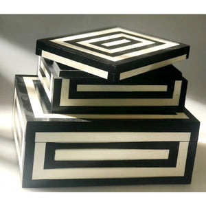 Black & Ivory Trinket Box