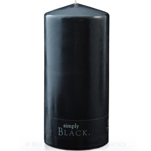 Simply Black Pillar Candle