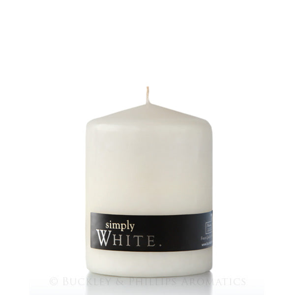 Simply White Pillar Candle