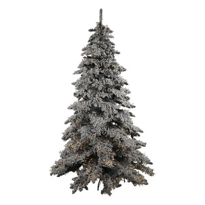 Flocked Pre Lit Snow Tree 7FT