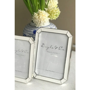White & Silver Photo Frame