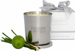 Fresh Lemongrass Flower Box 1kg Silver Candle