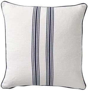 Striped Cotton Navy Cushion