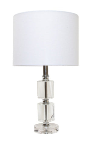 Crystal Cylinder Table Lamp