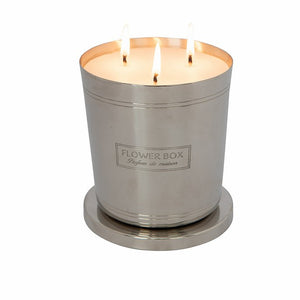 Fig Leaf & Cedar Flower Box 1kg Silver Candle