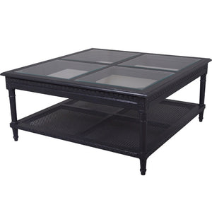 Polo Square Coffee Table Black