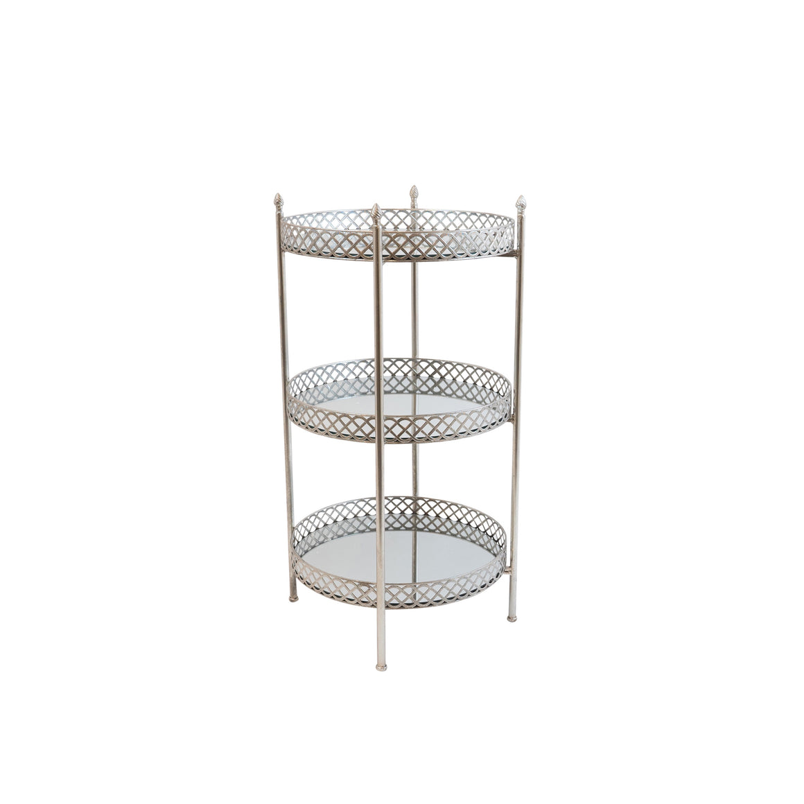 Vaughn Silver Leaf Three Tier Table