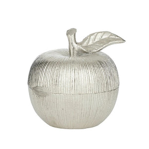Silver Apple Trinket Box