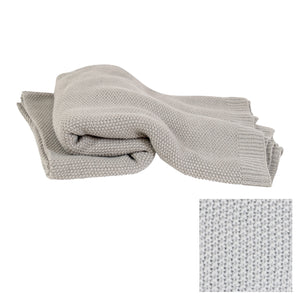 Warm Grey Knitted Throw