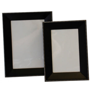 Black with Gold Beading Frame