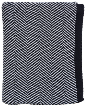 Black Herringbone Throw