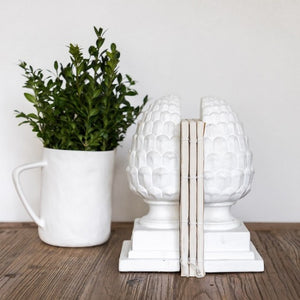 Acorn Bookends White
