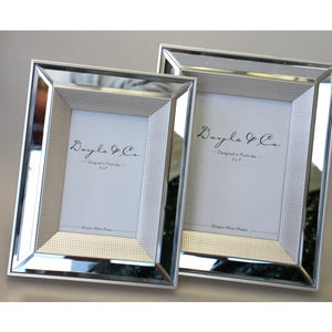 Mirror and Silver Dot Photo Frame