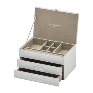 Gabriella White Jewellery Box Med