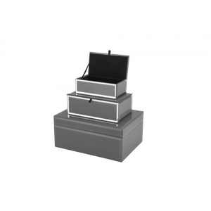 Grey Glass Jewellery Box