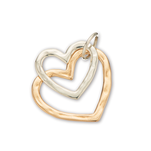 Open Hearts Pair Charm