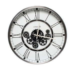 London White Gear Clock