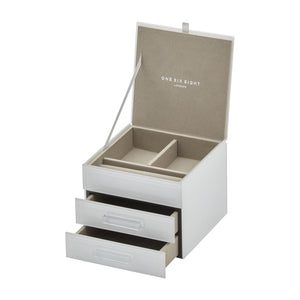 Gabriella White Jewellery Box Sml