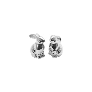 Silver Bunny Salt & Pepper Shakers