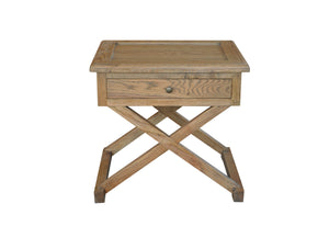 Cross-Leg Side Table Natural Oak