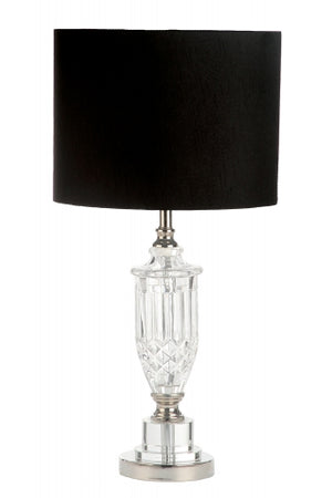 Janelle Silver Black Table Lamp