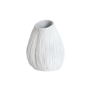 Chatham Resin White Ribbed Vase