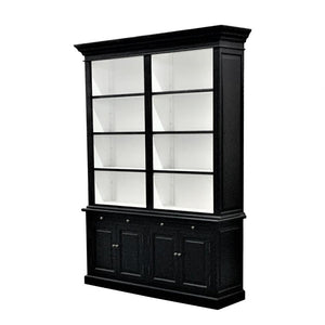 Two Bays Black Bookcase