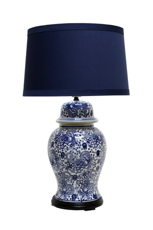 Blue & White Toile Lamp