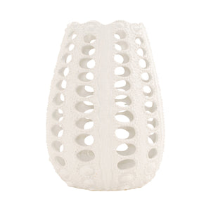 White Ceramic Urchin Vase