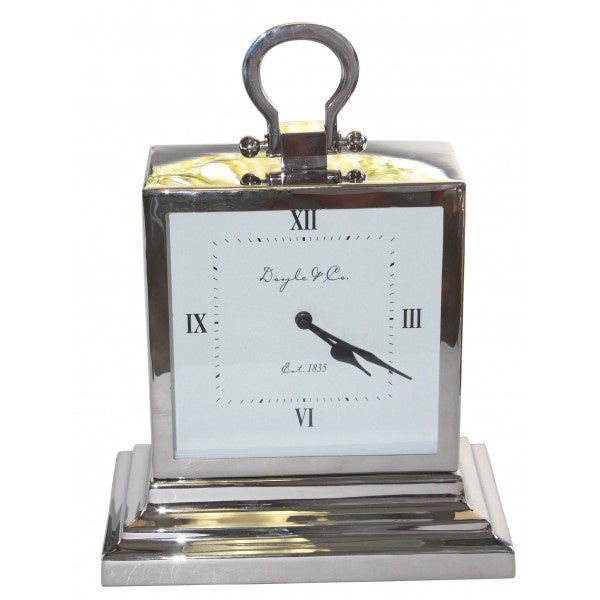 Silver Doyle & Co Mantle Clock