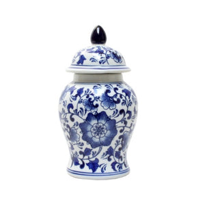 Blue & White Botanic Temple Jar