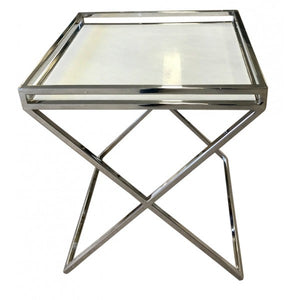 Chrome Marble Top Square Table