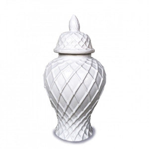 White Diamond Temple Jar