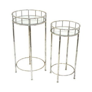 Delvine Metal Glass Table