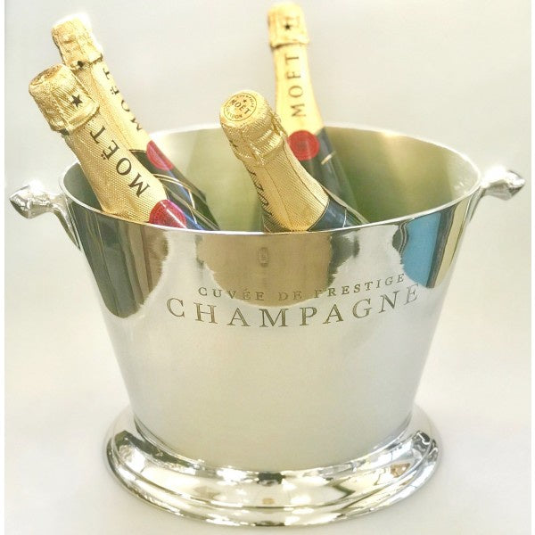 Shiny Nickel Champagne Bucket Round