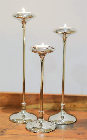 Seattle Nickel Candlesticks Set of 3