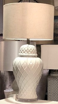 White Diamond Jar Lamp