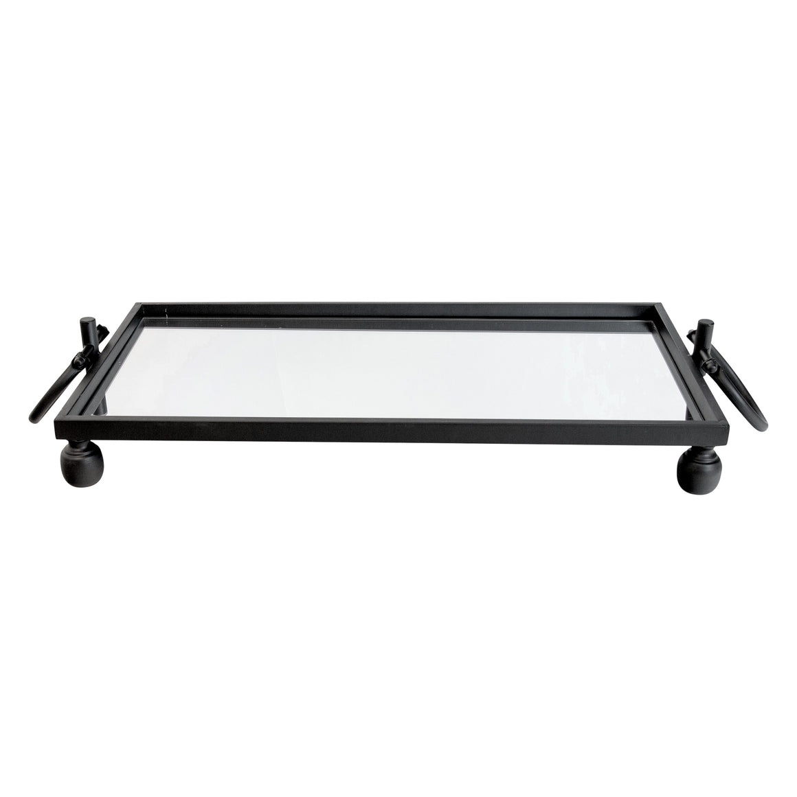 Black Mirror Tray w/handles
