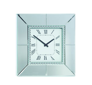 Mirror Wall Clock 40cm Square