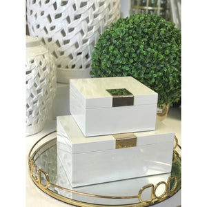 Ella Lacquer Jewellery Box w/Gold