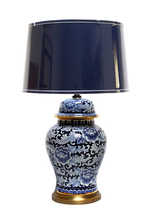 Blue White & Gold Indo Lamp