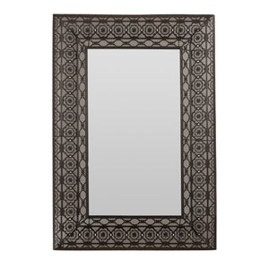 Black Metal Embossed Mirror