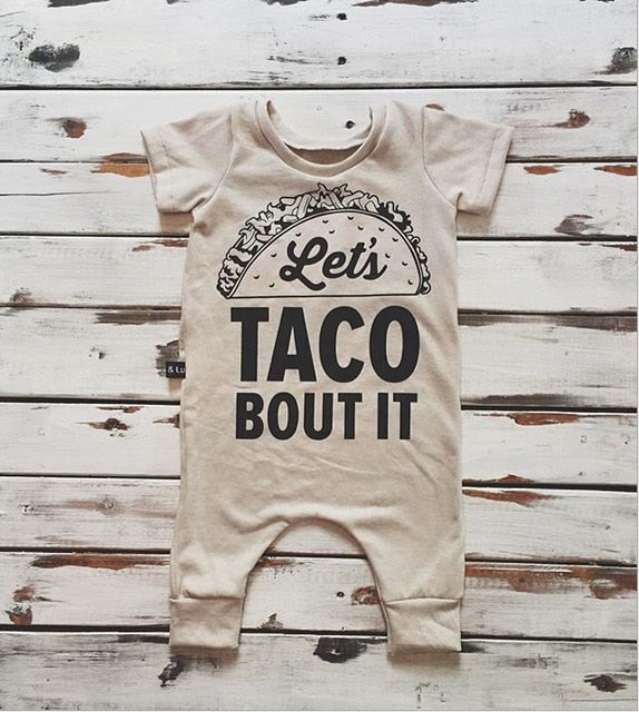 674a25d05a0 Let s Taco Bout It Romper – Central Mommy