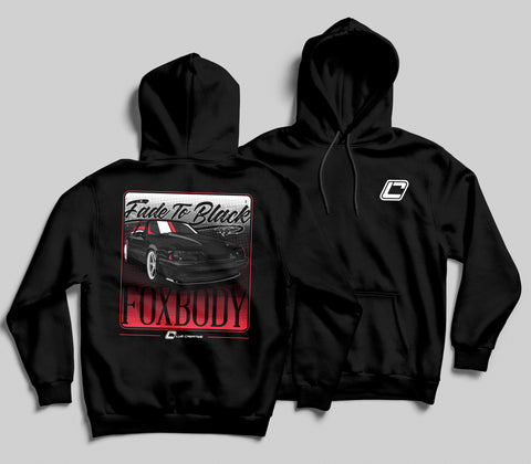 Fade to Black Fox Body Hoodie