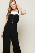 Load image into Gallery viewer, Black Button Down Jumpsuit