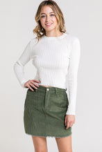 Load image into Gallery viewer, Ivory Ribbed Back Cutout Long Sleeve